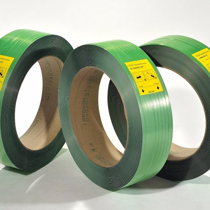 Tycoon Polyester Strapping - 12mm x 0.47mm x 9,000ft, 16x6