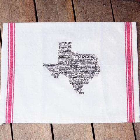 Texas Foods Dish Towel
