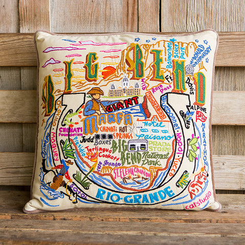 Big Bend Geo Embroidered Pillow
