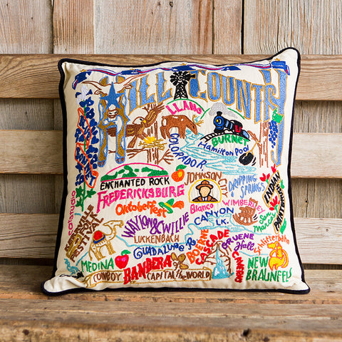 Hill Country Geo Embroidered Pillow