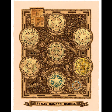 Smith Map Studio - Texas Ranger Badges