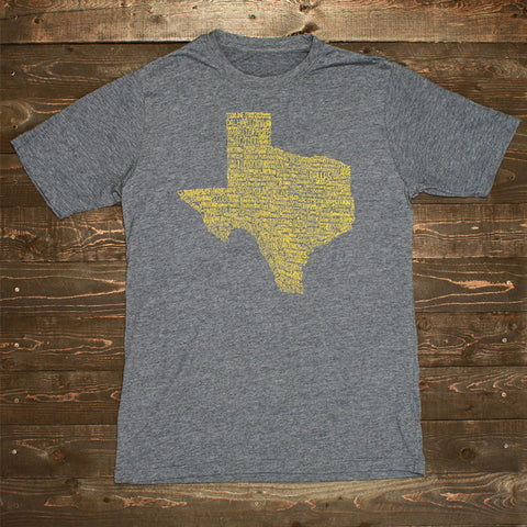 Texas Towns Shirt Gray