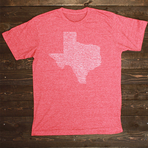 Texas Towns Shirt Red