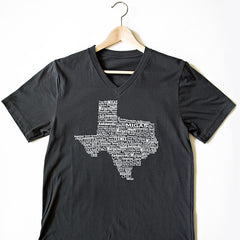 Texas Foods V-neck Gray Shirt