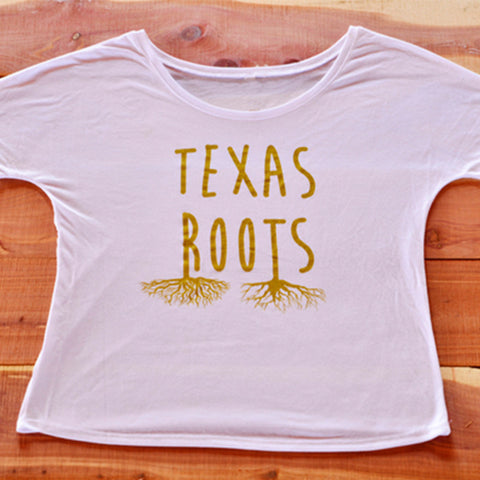 Texas Roots Flowy Simple Tee Shirt