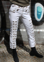 JUST CAVALLI LACE UP JEANS SIZE 28