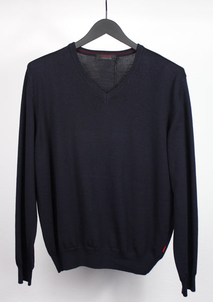 <strong>FALKE</strong> NAVY V-NECK PULLOVER SIZE M