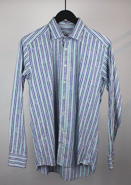 <strong>ETRO</strong> STRIPED FLORAL SHIRT SIZE 40