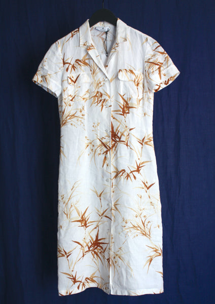 <strong>AIGNER</strong> LINEN SHIRT DRESS SIZE 38