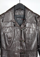 MARC CAIN  LEATHER JACKET SIZE M