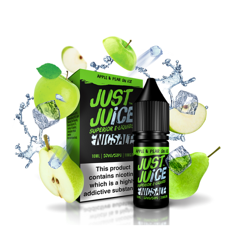 Just Juice Apple and Pear ON ICE - 10ml Nicotine Salt