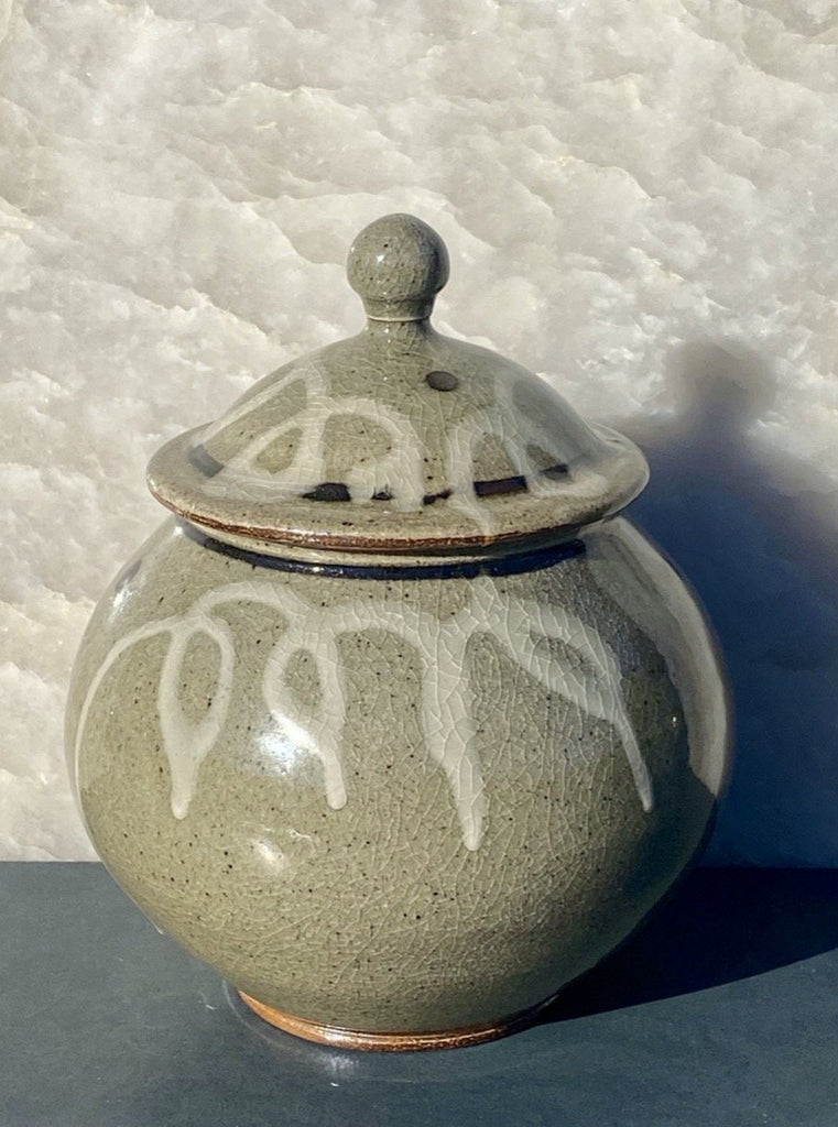 Fine crafted pottery jar