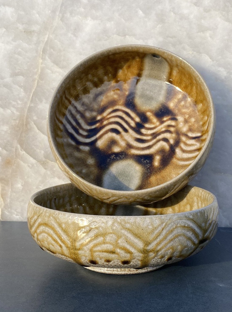handmade Mark Hewitt pottery cereal bowl