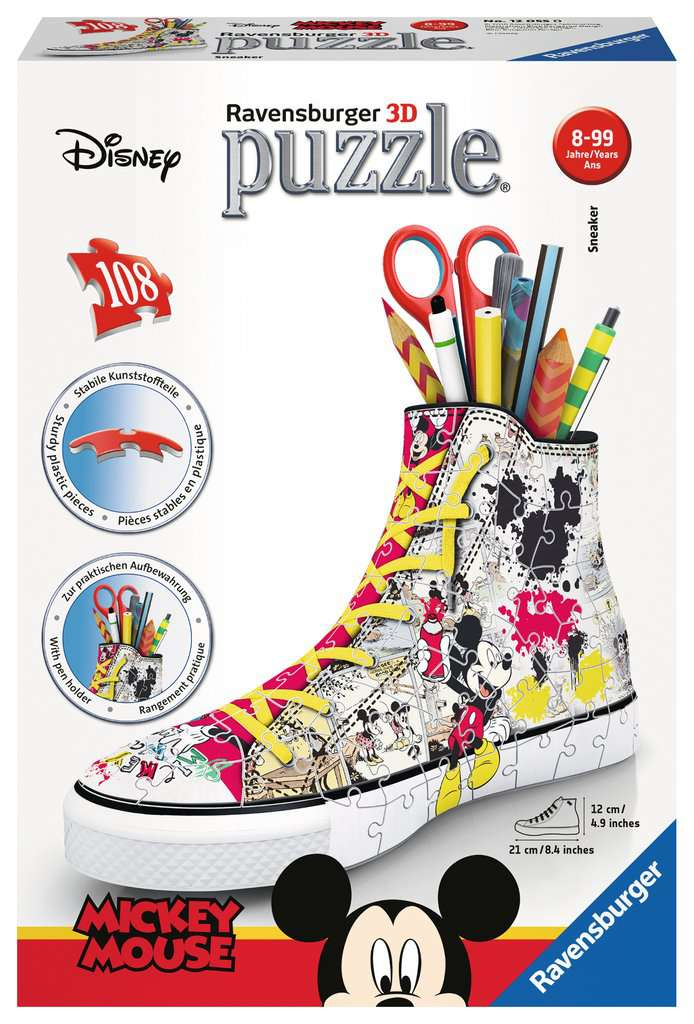 3D Mickey Mouse Sneaker 108 Piece
