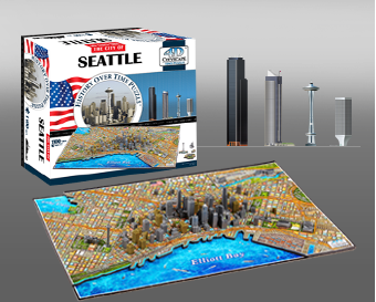 4D City Scape Seattle