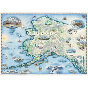 Alaska Map Xplorer 1000 Piece