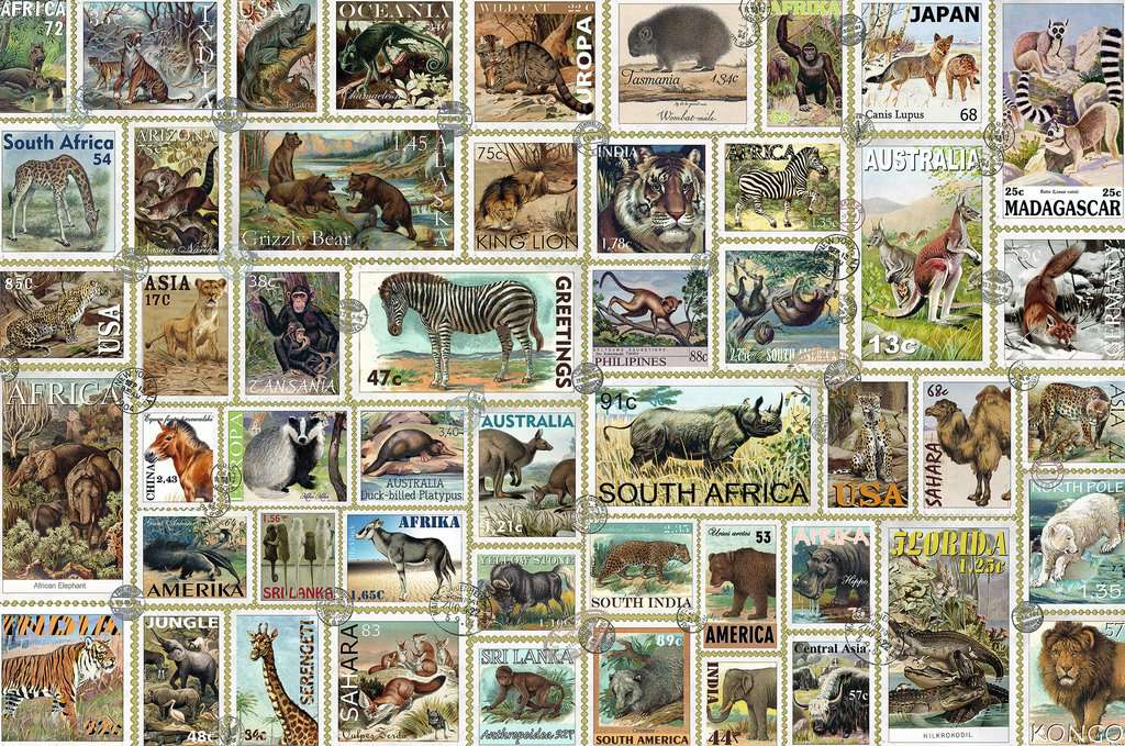 Animal Stamps 3000 Piece