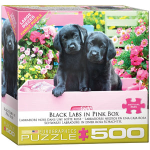 Black Labs In Pink 500 Piece