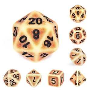Dice Set 7 Ancient Brown