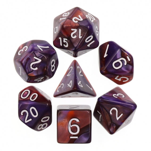 Dice Set 7 Blend Copper/Blue