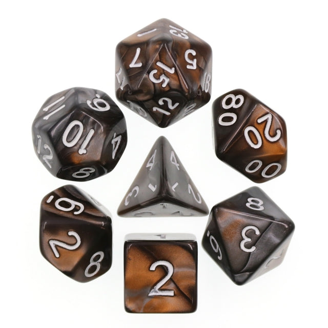 Dice Set 7 Blend Gold/Silver