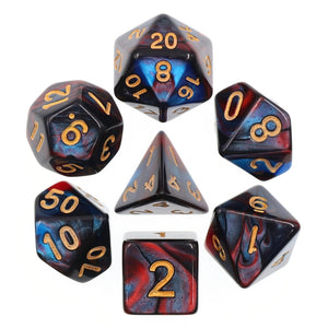 Dice Set 7 Blend Red/Blue