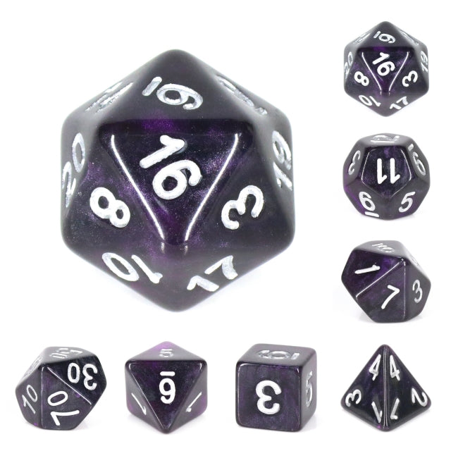 Dice Set 7 Galaxy Amethyst