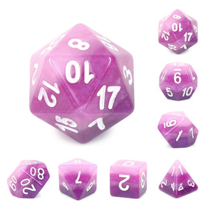 Dice Set 7 Gradient Purple