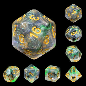 Dice Set 7 Luminous Venom