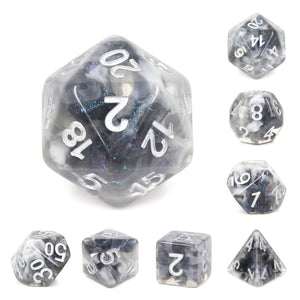 Dice Set 7 Snowy Crystal