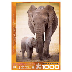 Elephant And Baby 1000 Piece