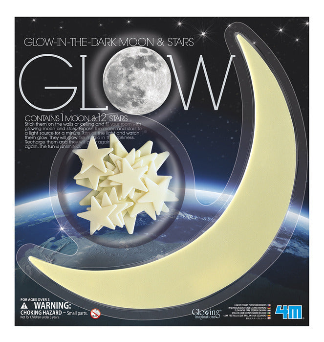 Glow In The Dark Moon And Stars Set