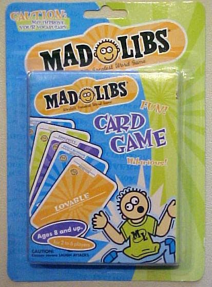 Mad Libs Card Game