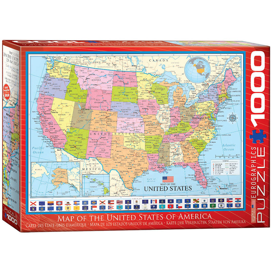 Map Of The Us 1000 Piece