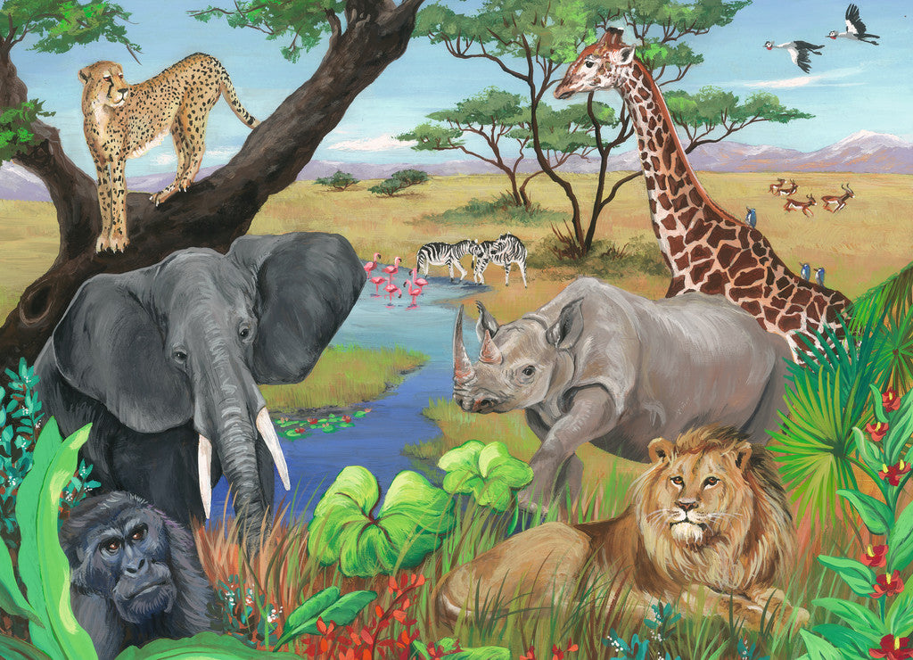 Safari Animals 60 Piece