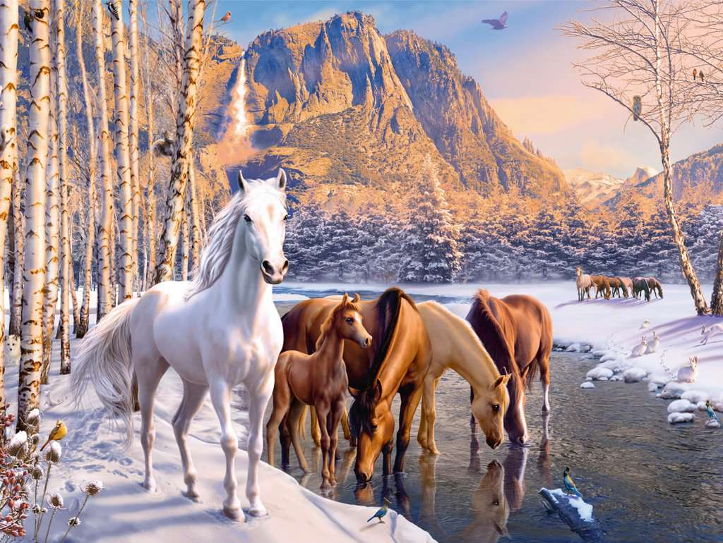 Winter Horses 200 Piece