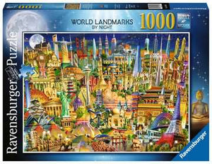 World Landmarks At Night 1000 Piece