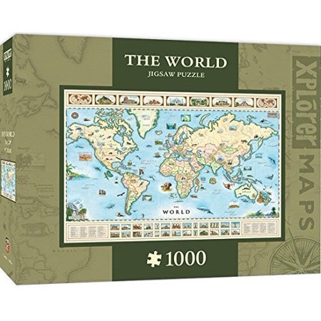 World Map Xplorer 1000 Piece