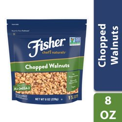 FISHER Chef's Naturals Chopped Walnuts, 8 oz, Naturally Gluten Free, No Preservatives, Non-GMO