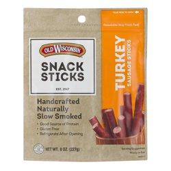 Old Wisconsin Snack Sticks Turkey Sausage Sticks, 8 Oz.