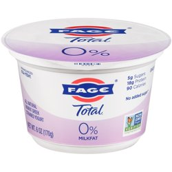Fage Total 0% Nonfat Greek Strained Yogurt, 6 oz