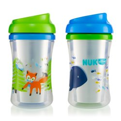 First Essentials by NUK Insulated Cup-like Rim Sippy Cup, 9 oz, 2-Pack