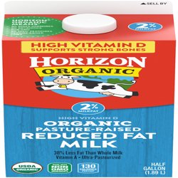 Horizon Organic 2% Reduced Fat Milk, 0.5 gal