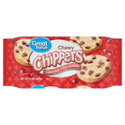 Great Value Chocolate Chip Chewy Chippers Cookies, 13 Oz.