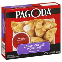Pagoda® Cream Cheese Wontons 7.27 oz. Box