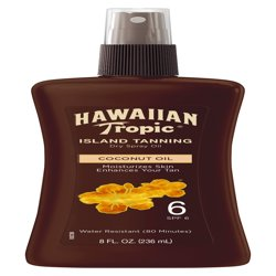 Hawaiian Tropic Dark Tanning Oil Pump Spray SPF 6, 8 oz