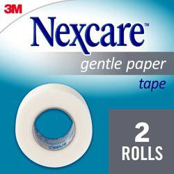 Nexcare Gentle Paper Carded Tape, Hospital Grade, 2/Rolls