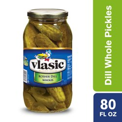 Vlasic Kosher Dill Whole Pickles, Keto Friendly, 80 FL OZ