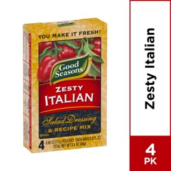 Good Seasons Zesty Italian Dry Salad Dressing and Recipe Mix, 4 ct - Packets