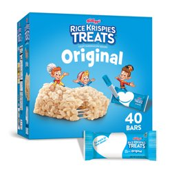 Kellogg's Rice Krispies Treats Crispy Marshmallow Squares Original Single Serve 31.2 Oz 40 Ct